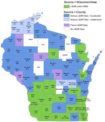 Counties In Wisconsin Map by Aerial Lidar In Wisconsin A View From The Ground Level Borders