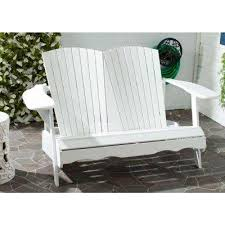 White Wood Outdoor Furniture by White Outdoor Benches Patio Chairs The Home Depot
