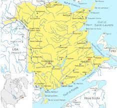 Canada Cities Map by List Of Cities In New Brunswick Wikipedia