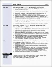 Teacher Resumes Examples by Elementary Teacher Resume Template Resume Examples 2017