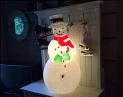 Light Up Snowman Outdoor Christmas Blow Mold Etsy