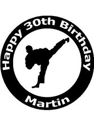 karate cake topper 7 5 tae kwon do martial arts edible image cake toppers