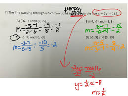 showme writing equations of parallel and perpendicular lines