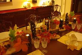 more autumn leaves on my tables something special