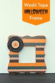 halloween frame washi tape halloween frame and halloween bash blog hop organize