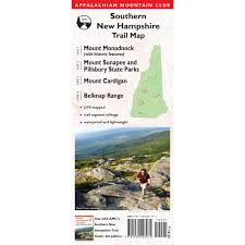 Appalachian Trail Massachusetts Map by Southern New Hampshire Trail Map 3rd Edition Amc Store