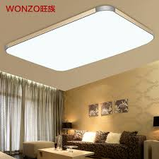 Light Fixtures For Living Room Ceiling Wang Clan Slim Led Ceiling L Modern Minimalist Rectangular