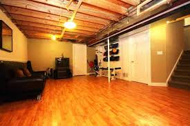 Ideas For Unfinished Basement Unfinished Basement Flooring Ideas Underlayment Laminate Best