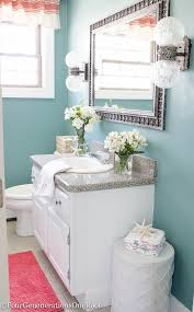 Paint Colors For Powder Room - coastal blue powder room makeover before u0026 after coral