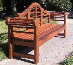 No Cushion Outdoor Furniture - wood outdoor bench with contoured seating forever redwood