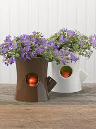 Self Water Pot Log U0026 Squirrel Self Watering Pot Gardener U0027s Supply