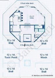 Barn Living Floor Plans Barn Plans 4 Stall Horse Barn Living Quarters Design Floor Plan