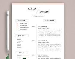 elegant resume etsy