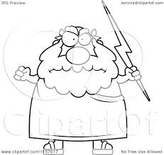 cartoon clipart of a black and white chubby greek man holding