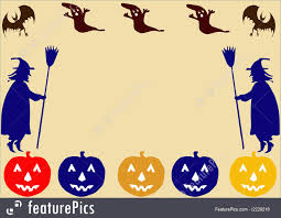 halloween halloween border stock illustration i2229216 at