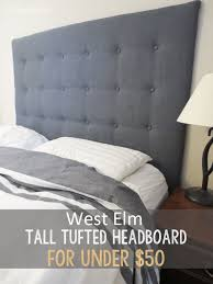 diy west elm tall tufted headboard for under 50 living in a