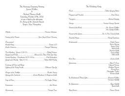 Wedding Ceremony Program Sample Catholic Wedding Ceremony Program Templates Free Wedding