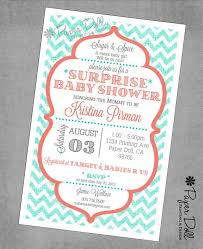 baby shower invitation ideas coral and teal google search baby