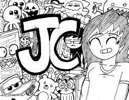 doodle name jc jc uncolored by johndarwinencarnado on deviantart