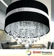 black and white striped l shade black and white chandelier shades view image in new window off white