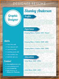 graphic design resume template download best resume format best