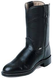 s boots justin justin basics s 10 roper boots black cow