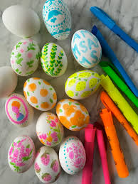 decorative easter eggs simple highlighter pen decorated easter eggs make it