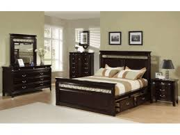 furniture black wooden platform bed with storage drawer and head