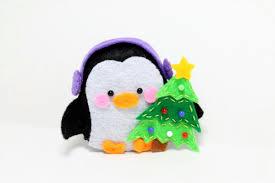 pdf pattern felt penguin ornament