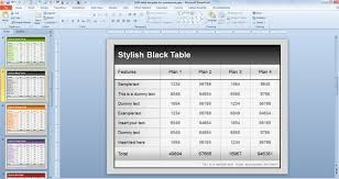 Dummy Table Free Table Templates For Powerpoint