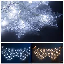 Outdoor Snowflake Lights Blue White Christmas Lights Christmas Lights Decoration