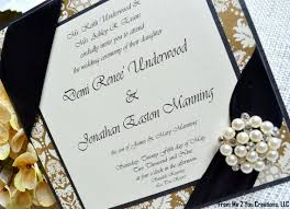 black and gold wedding invitations sample gold and black wedding invitation pearl brooch
