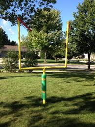 semi permanent field telescopic goal post from pvc pipe giant