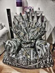 iron throne bean bag nerd by night