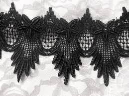 black lace trim black venice lace trim floral and scallops