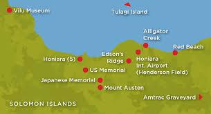 Solomon Islands Map Guadalcanal And Hmas Canberra Anniversary Mat Mclachlan