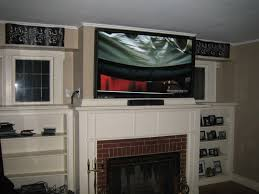 white tv installation cost then tv over in tv over fireplace