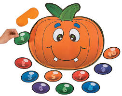 amazon com pin the nose on the pumpkin game toys u0026 games