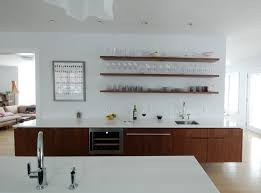shelves in kitchen ideas wood floating shelves kitchen ideas trends4us com