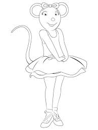 angelina ballerina coloring sheets trend pages in print with on