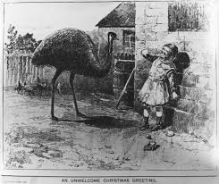 9 bizarre christmas cards from the 1800s emu christmas cards