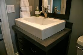 black rio slate vanity with white top mount sink www