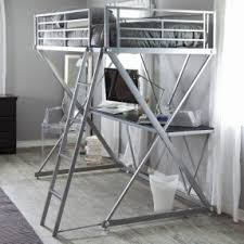 metal bunk bed with desk open travel