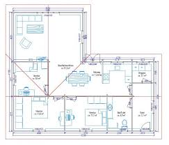 plan maison 80m2 3 chambres plan maison 120m2 3 chambres
