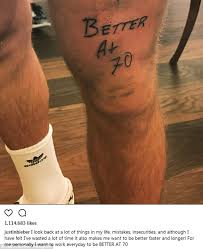 tattoo my photo up to down justin bieber unveils huge better at 70 tattoo on leg daily mail