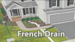 ideas how to build a french drain design ideas with tile roof