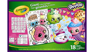 crayola giant colouring pages shopkins arts u0026 crafts harvey