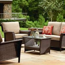 outdoor ty pennington parkside 4 piece seating set tan from sears