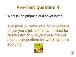 job preparation cover letter