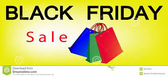 black friday sale sign paper shopping bags on black friday sale banner stock image